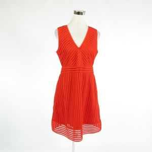 J.Crew orange sleeveless A-line dress 8